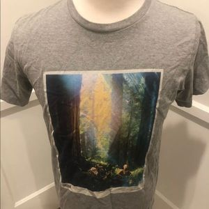 Star Wars T Shirt C-3PO Endor Forest Light Size L